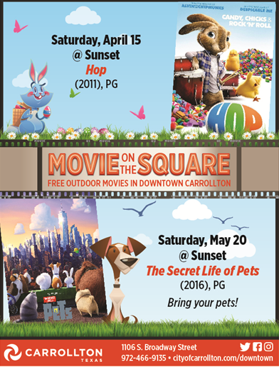 Spring Movie On The Square Series Kicks Off With Hop Latest City News City Of Carrollton Tx
