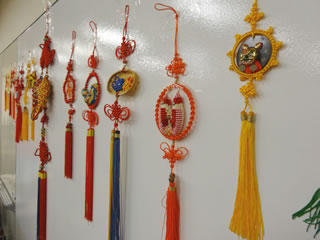 Chinese knotting display
