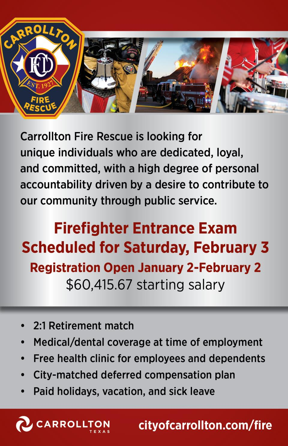 Fire Recruitment flyer