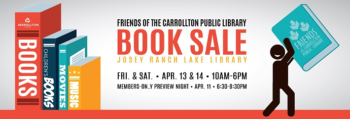 Library Book Sale April 13 and 14 at the Josey Ranch Lake Library