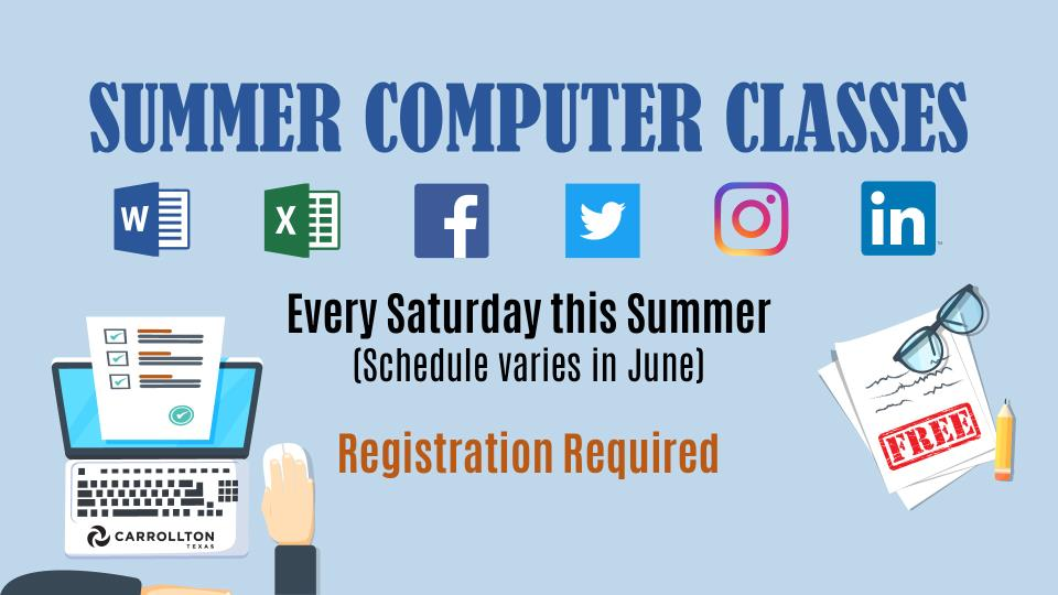 Summer 2018 Computer Classes