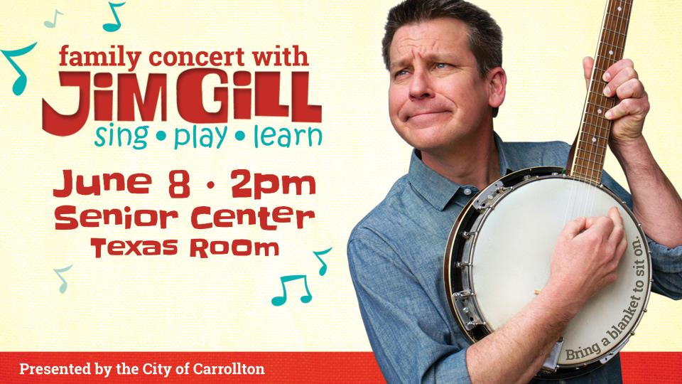 Family Concert with Jim Gill June 8 2pm