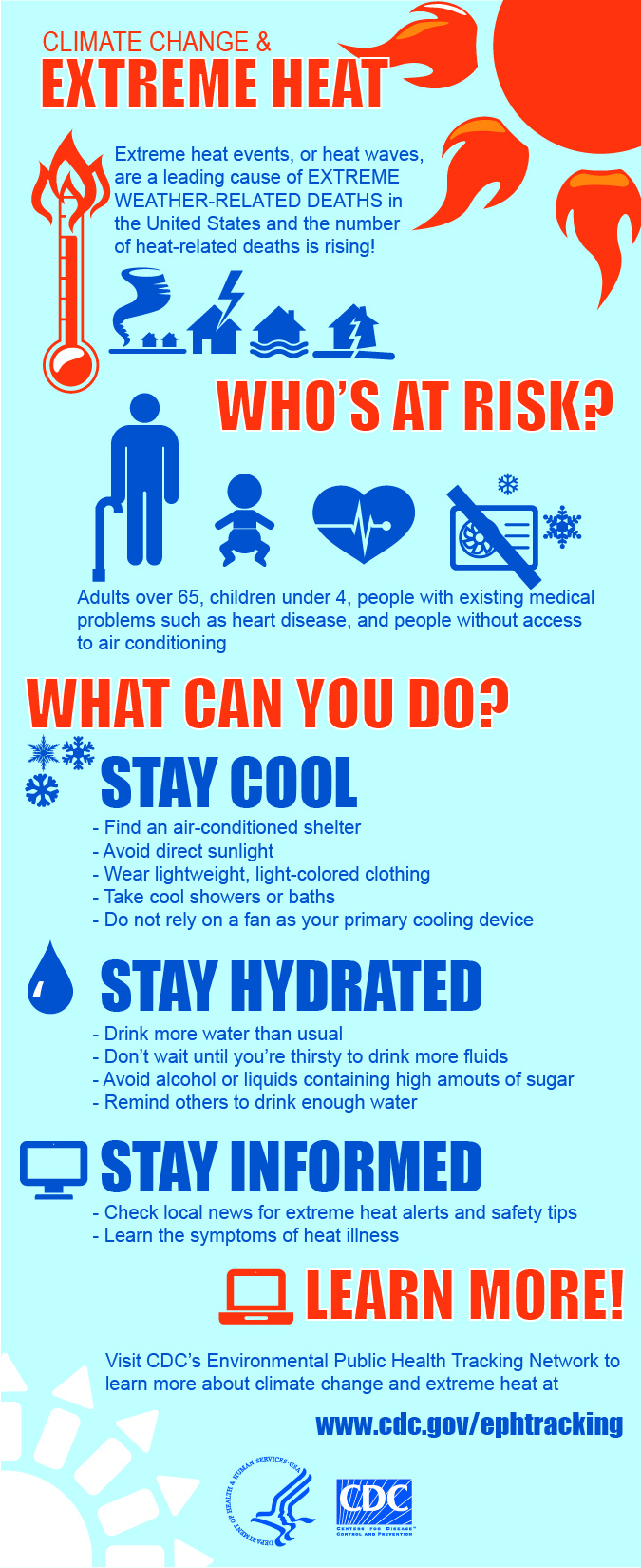 Heat Safety infographic