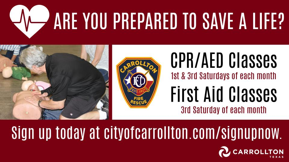 Carrollton Fire Rescue Offers Cpraed And First Aid Classes To Train