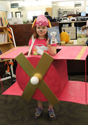 Halloween 2016 pilot with pink airplane