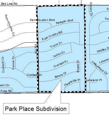 Park Place Project Map