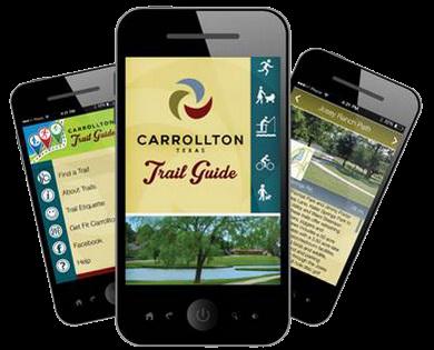 image of Trail app phones