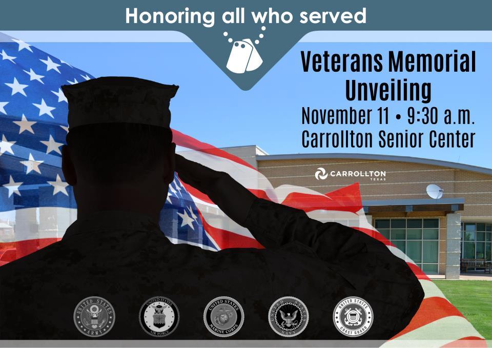Carrollton Honors Veterans with New Memorial Monument