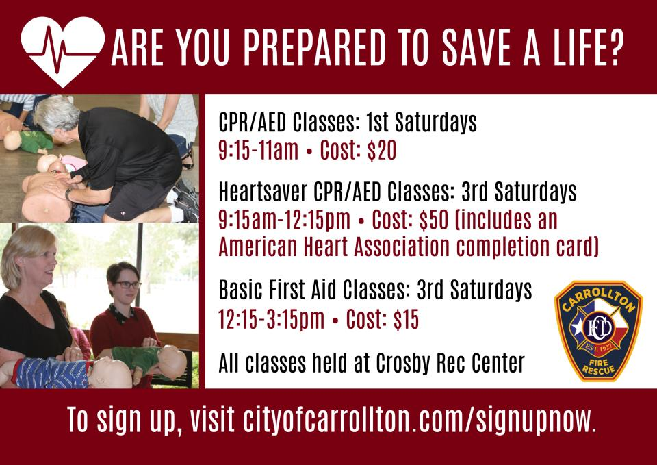 Spring 2019 CPR Classes