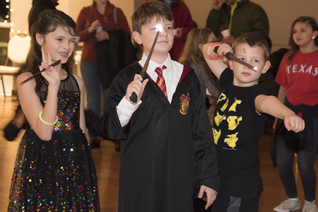 Harry Potter Yule Ball young wizards with wands