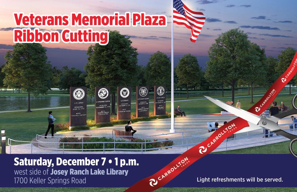 Veterans Memorial Plaza Ribbon Cutting
