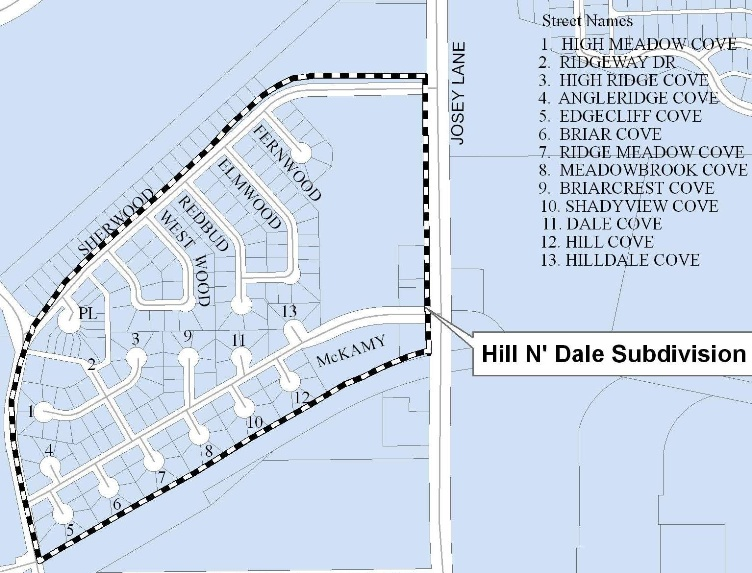 Hill 'N Dale Project Map