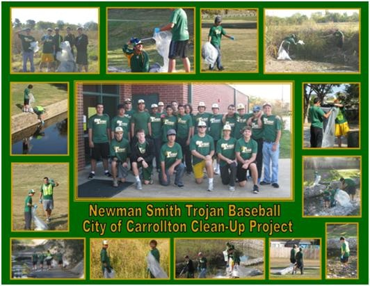 Smith Trojan Baseball Community clean up