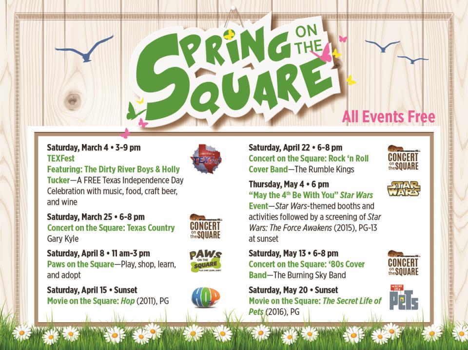 Spring Schedule 2017