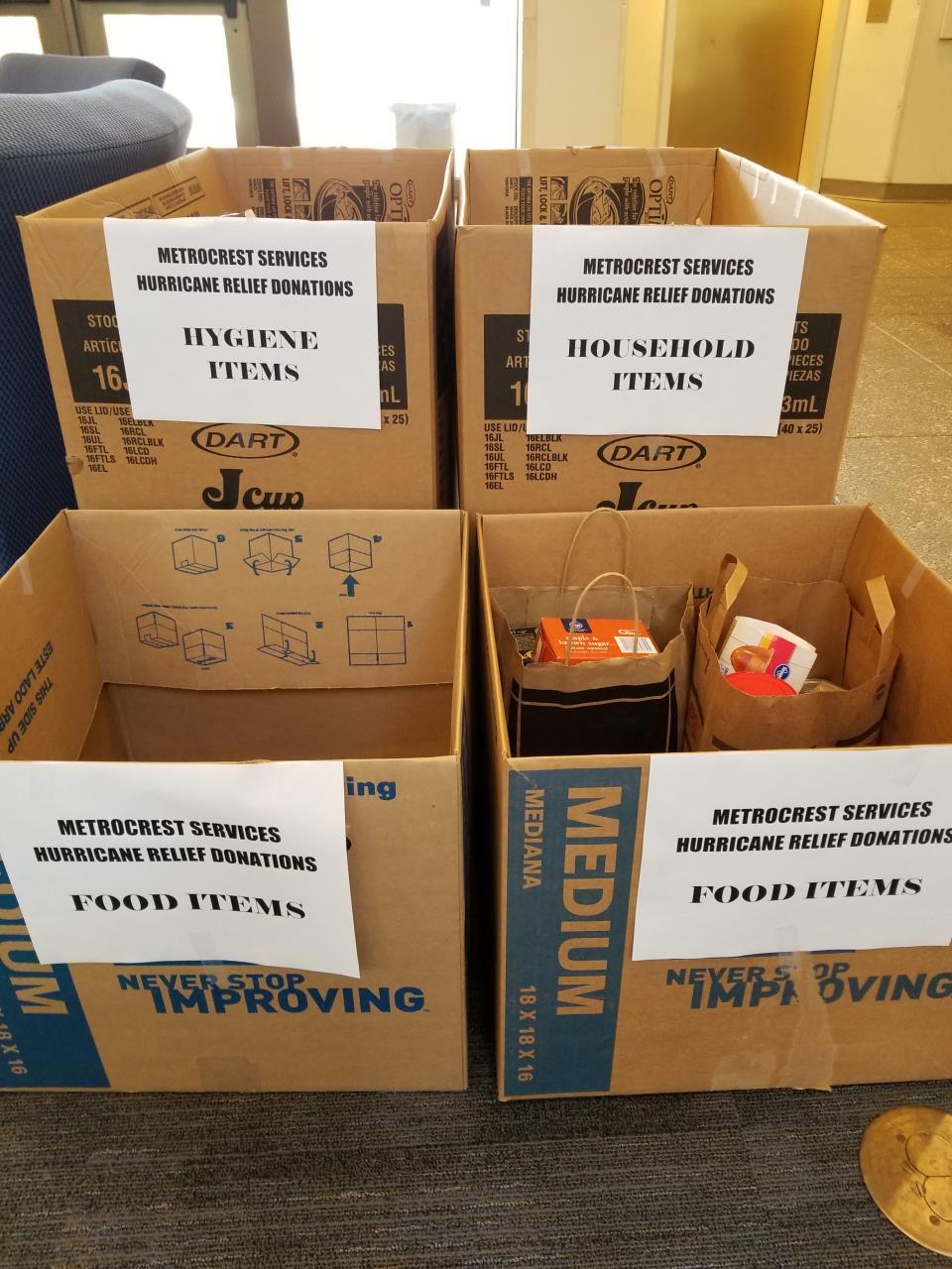 Metrocrest donation boxes City Hall