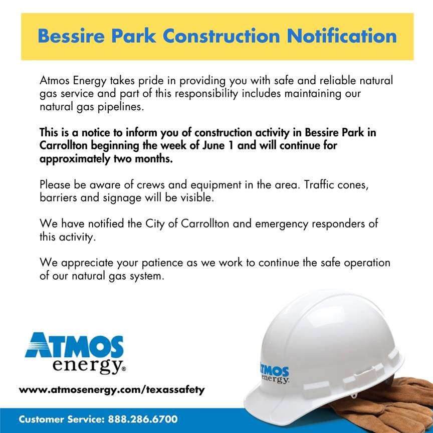 Atmos Energy Bessire Park Construction