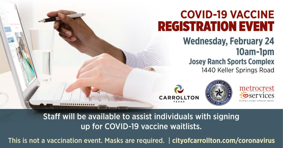 Vaccine registration event